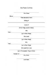 Bio Poems Template. bio poem examples high school tagalog biopoem ...