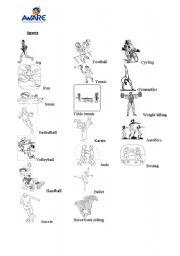 english worksheets list of sports. Black Bedroom Furniture Sets. Home Design Ideas