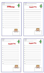 English Worksheet: DICTATION SHEET