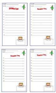 English Worksheets: DICTATION SHEET