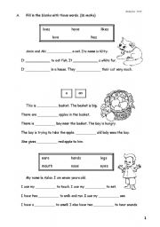 English Worksheets: Passage