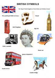 English Worksheets: BRITISH SYMBOLS