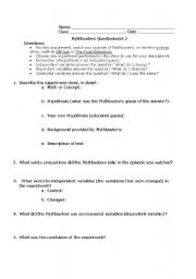 Printables Mythbusters Scientific Method Worksheet mythbusters worksheets abitlikethis worksheet also scientific method as well supplement to go with dvd level intermediate