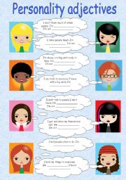 English Worksheet: Personality adjectives