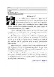 English Worksheets: Reading comprehension and grammar tests