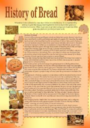 English Worksheets: History of Bread 2 pages