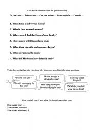 English Worksheets: Do you know where...