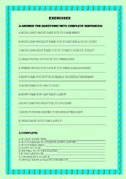 English Worksheets: MIX OF EXERCISES