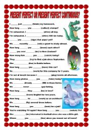 English Worksheet: Present Perfect or Present Perfect Continuous?