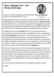 English Worksheets: Florence Nightingale