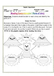 English worksheet: Parts of a story