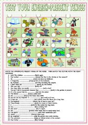 English Worksheets: Test your English-Present Tenses