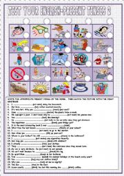 English Worksheets: Test your English-Present Tenses 2