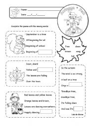 English Worksheets:  Poems