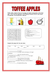 English Worksheets: TOFFEE APPLES