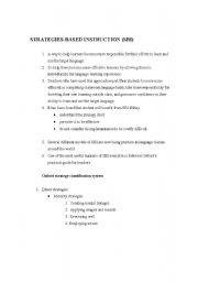 English Worksheets: Strategies based instruction in esl