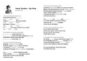 English Worksheets: My way - Frank Sinatra