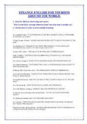 English Worksheets: Strange English Around the World