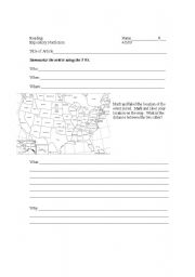 English Worksheets: Nonfiction Graphic Organizer