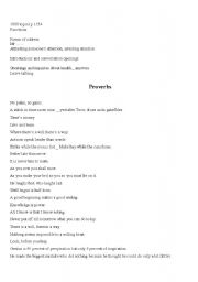 English Worksheets: provebs