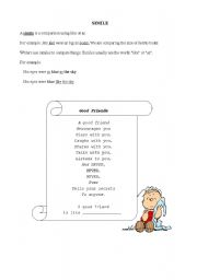 English Worksheets: Similie, Metaphor, Alliteration and Personification