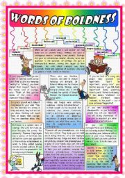 English Worksheets: WORDS OF BOLDNESS