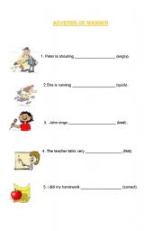 how to teach adverbs of manner