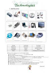 English Worksheets: Techonologies