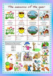 English Worksheet: The seasons of the year
