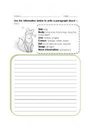 English Worksheets: describing an animal