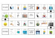 English Worksheets: Simple Actions Board Game