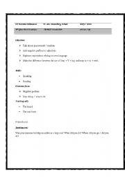 English Worksheet: lesson plan space tourism