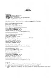 lyrics to let it be by the beatles