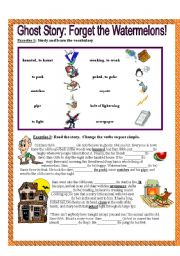 English Worksheets: Ghost Story: Forget the Watermelons!