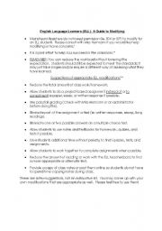 English Worksheets: ELL Guide to Modifying for Mainstream Teachers