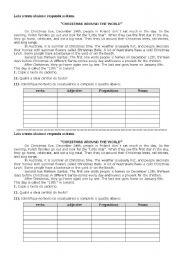 English worksheet: Text