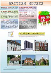 English Worksheet: BUILDINGS: BRITISH HOUSES
