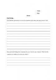 English Worksheets: Free Writing Time