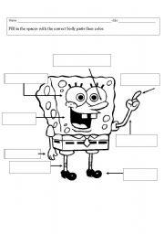 sponge bob body