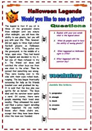 English Worksheets: HALLOWEEN LEGENDS