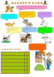 English worksheet: barneys farm