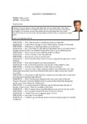 English Worksheets: Harrison Ford, film, actor