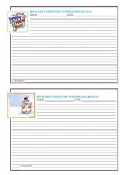 English Worksheet: Written exercise-How did I spend my winter holidays?