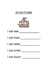 English Worksheet: At the funfair