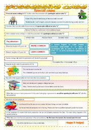 English Worksheet: Possessive case - some special rules for lower advanced - fully editable