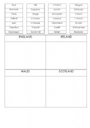 English worksheet: BRITISH CULTURE SYMBOLS