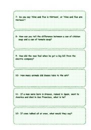 English Worksheets: My favourite riddles collection. Part 2 (2-2)