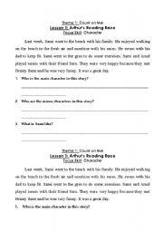 English Worksheets: Characters