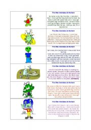 English Worksheets: Reading comprehension - Aliens and monsters