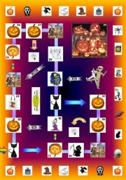 Ultimate Halloween game (Part 1/4):  Board game (two parts) + Cards. There are 144 game cards altogether!!!